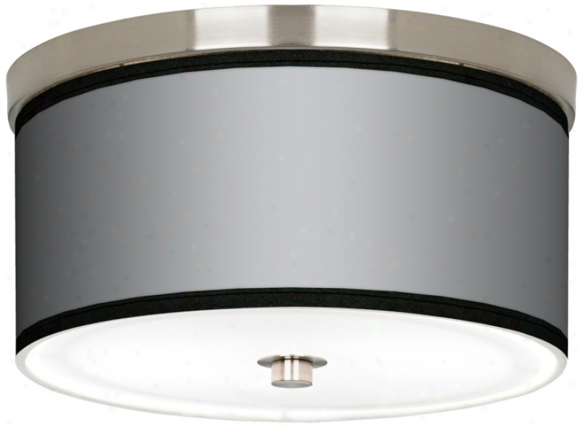 "Al Silver Nickel 10 1/4"" Wide Ceiling Light (j9214-k1673)"