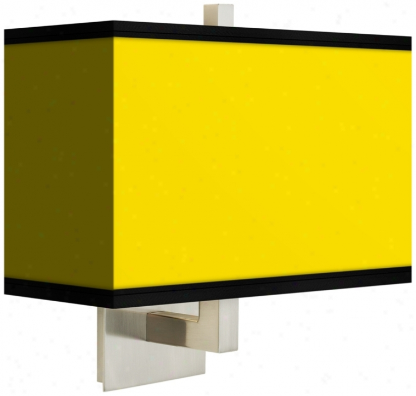 All Yellow Rectangular Giclee Shade Wall Sconce (m1072-m3085)