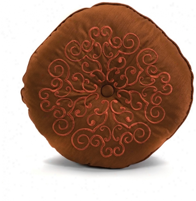 Alma Round Medallion Pillow (n1347)