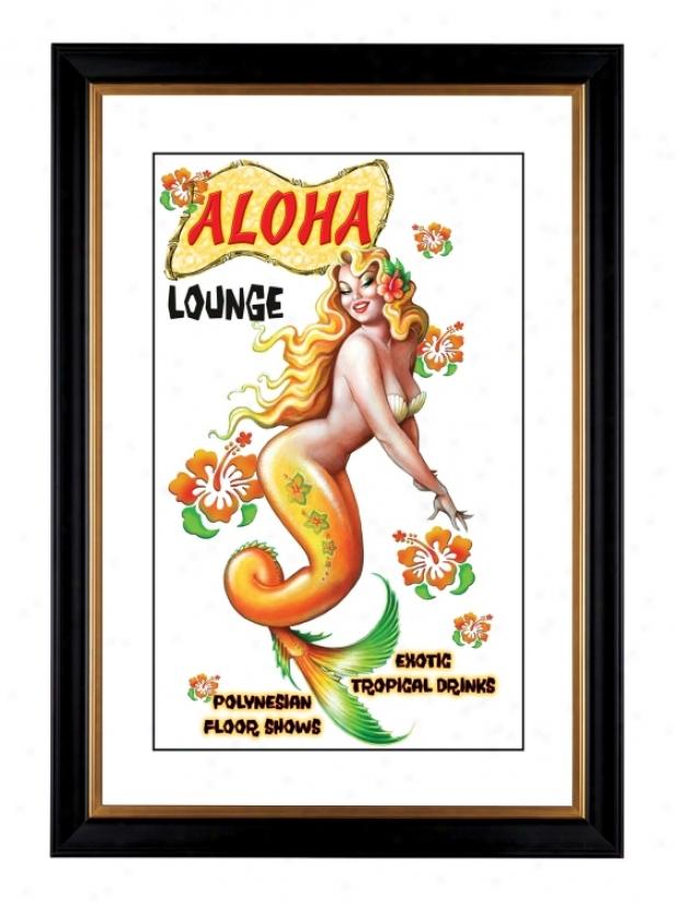 "Aloha Mermaid Giclee 41 3/8"" Capital Wall Art (33822-80384)"