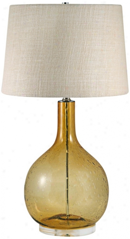 Amber Seeded Glass Synopsis Lamp (v2519)
