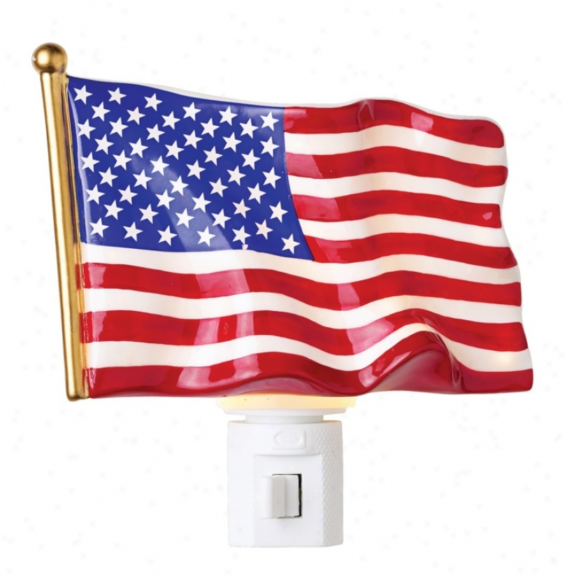 American Flag Night Light (23466)