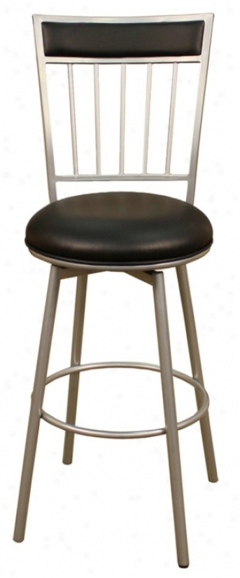 "American Heritage Alliance Silver 24"" High Counter Stool (u4572)"
