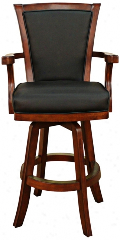"American Heritage Auburn Brandy 30"" High Swivel Bar Stool (t4674)"