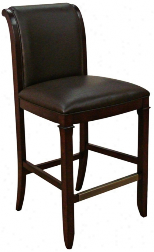 "American Heritage Augusto Suede 30"" High Bar Stool (t4679)"