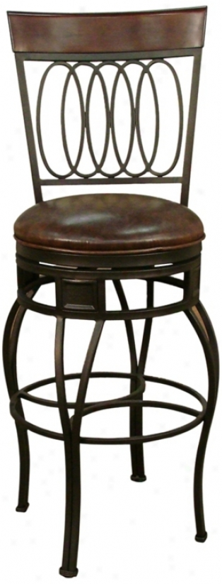 "American Heritage Capri Bourbon Seat 30"" High Bar Stool (u5050)"