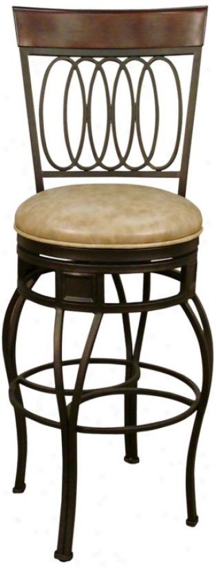 American Heritage Capri Pepper 24&qot; High Counter Stool (u5047)