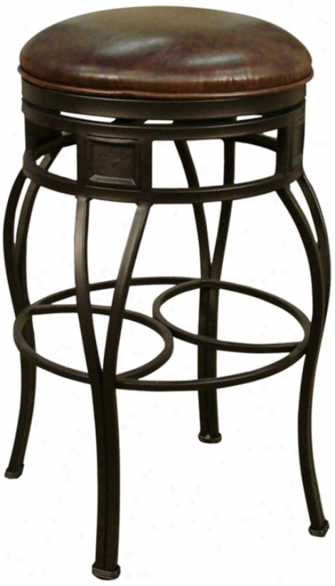 "American Heritage Capri Pepper 34"" Tall Backless Bar Stool (u5058)"