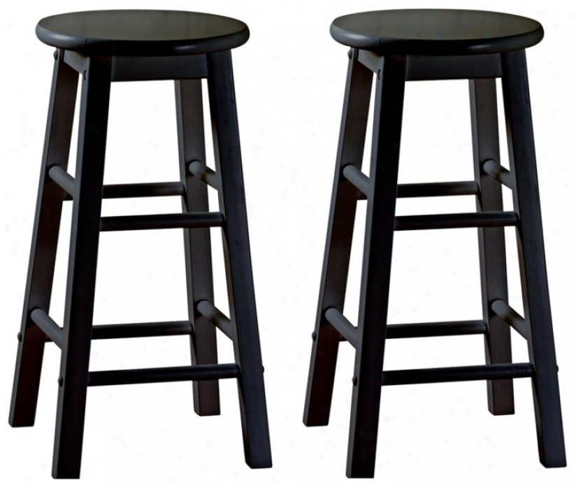 "American Heritage Classic SrtO f Pair 30"" Hihh Bar Stools (n0844)"
