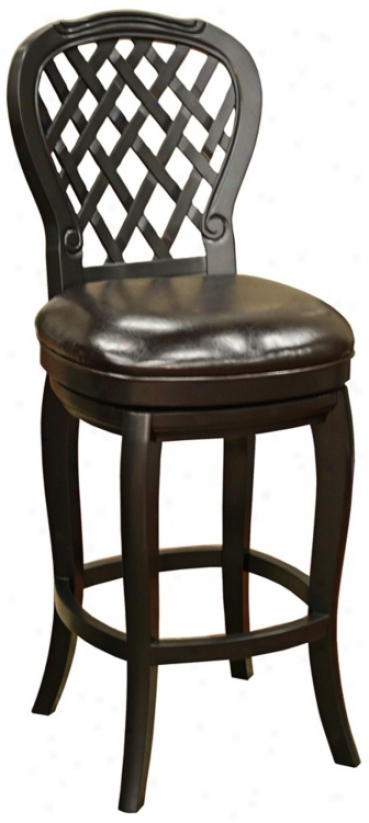 "American Inheritance Dahlia Black 30"" High Bar Stool (n0858)"