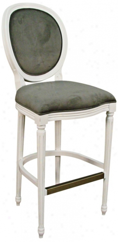 "American Heritage Dante White 30"" High Bar Stool (t4756)"