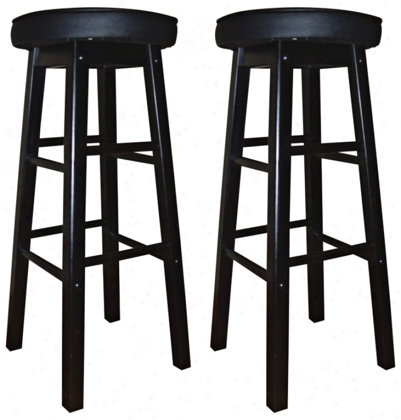 "American Heritage Delta 30"" High Set Of 2 Bar Stools (n0864)"