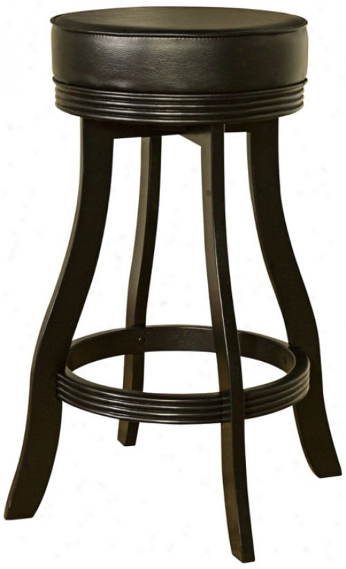 "American Heirtage Designer Black 30"" High Swivel Bar Stool (t4762)"