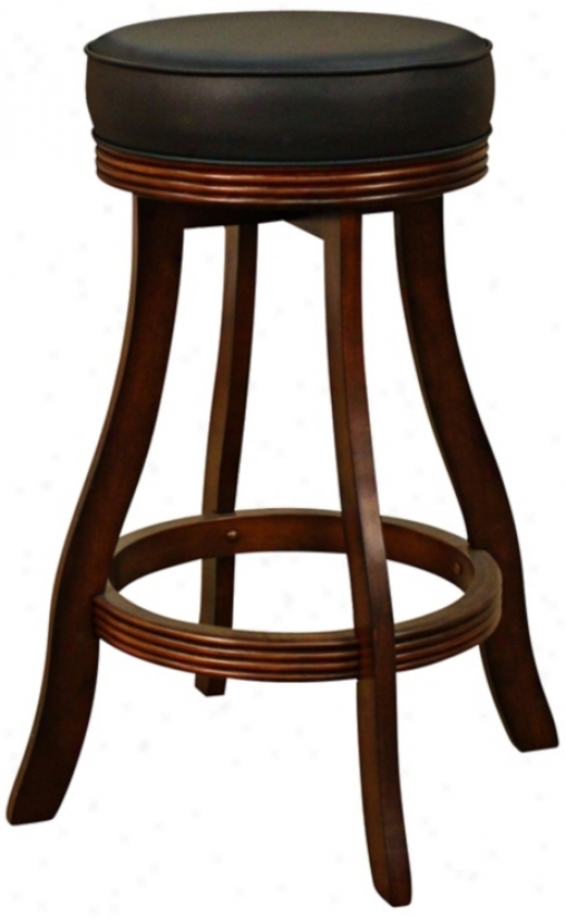"American Heritage Designer Suede 30"" High Swivel Bar Stool (t4774)"