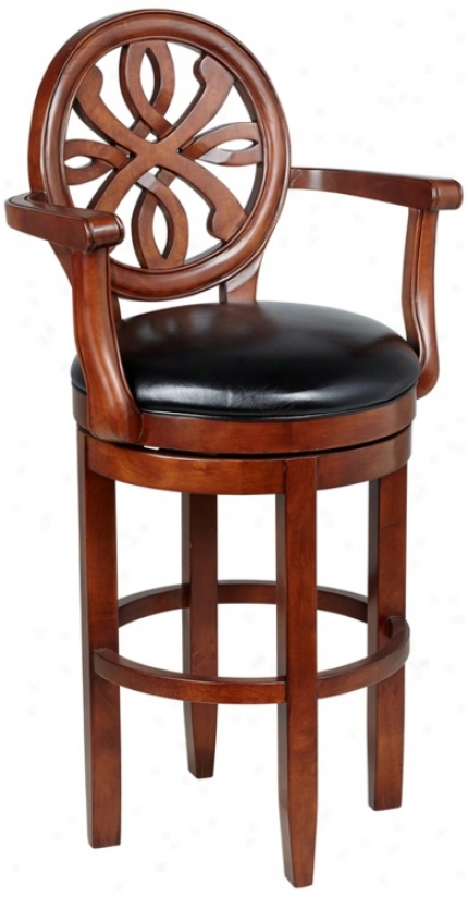 Ameircan Heritage Kennedy Murky Leather Bar Stool (n0932)