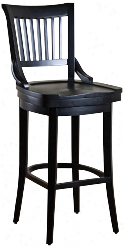 "American Heritage Liberty Black 24"" High Counter Stool (n0937)"