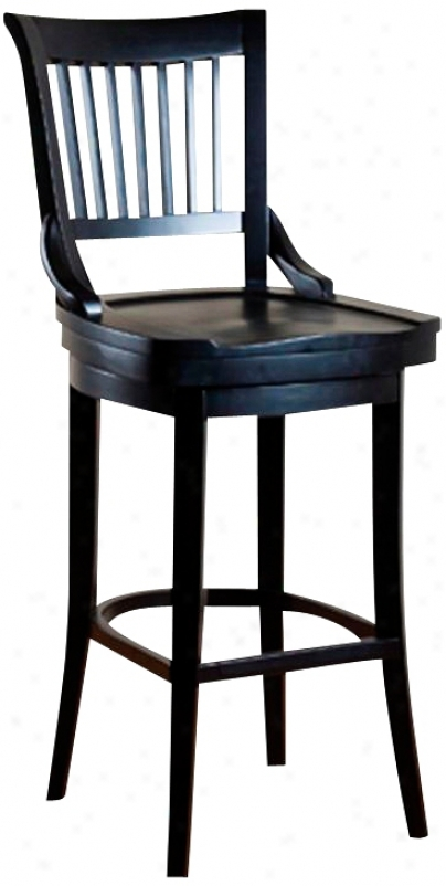 "American Heritage Liberty Black 34"" High Swivel Bar Stool (u5140)"