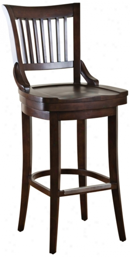 """American Heritage Liberty Chestnut 30"""" High Body of lawyers Stool (n0942)"""
