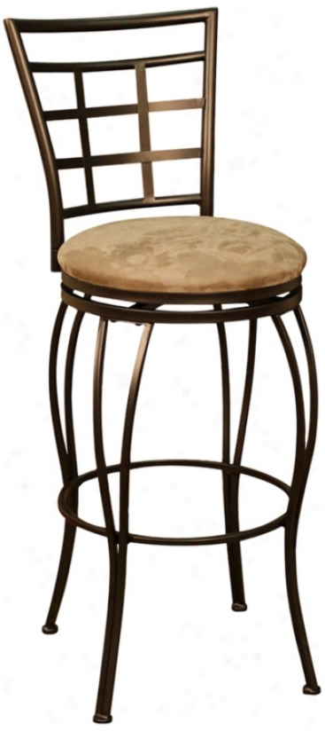 "American Heritage Licata Topaz 24"" High Swivel Counter Stool (u5147)"