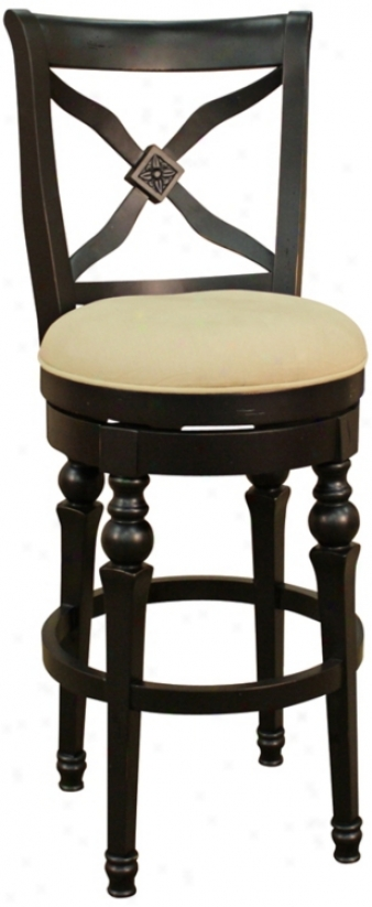 "American Heritage Livingston Antique Black 30"" Bar Stool (u5163)"