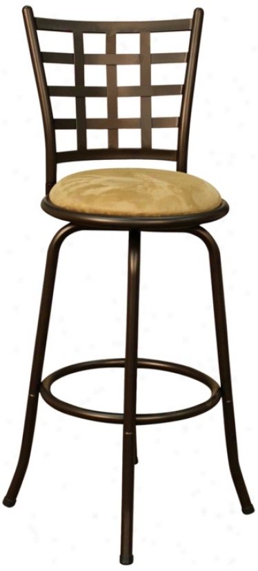 "American Heritage Madera Topaz 24"" Swivel Counter Stool (u5169)"