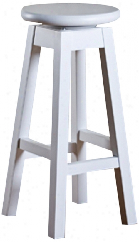"American Heritage Taylor White 30"" High Bar Stool (n0990)"