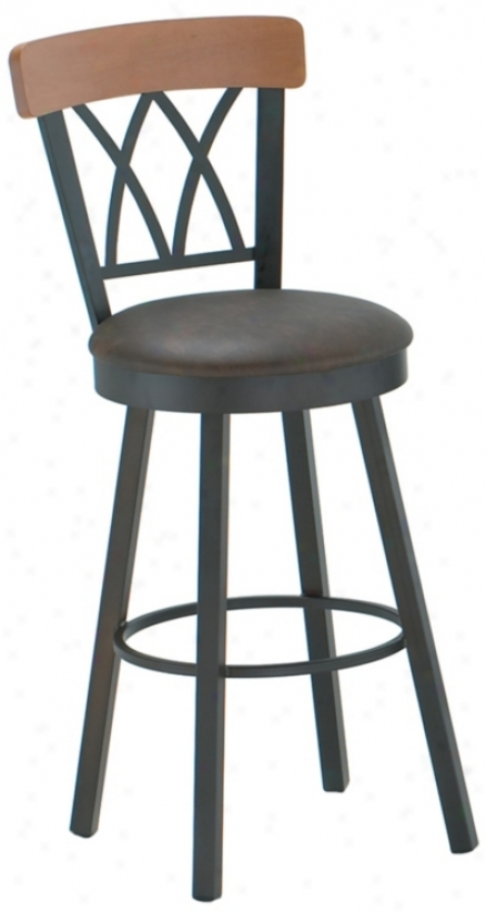 "Amisco Brittany Java 26"" High Swivel Counter Stool (m7279)"