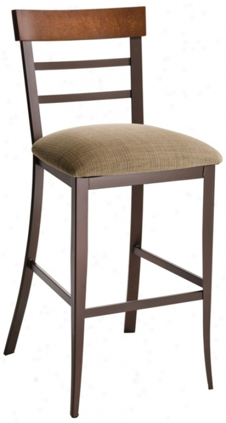 "Amisco Cate Wheat And Cognac 26"" High Counter Stool (m6229)"