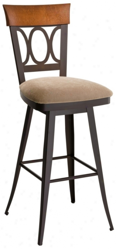 "Amisco Cindy Scotch 30"" High Swivel Bar Stool (m9201)"