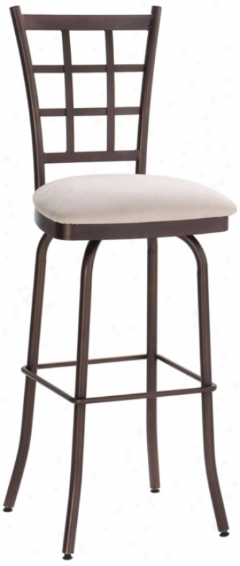 "Amisco Jami3 Pina Colada 30"" High Swivel Bar Stool (m9247)"