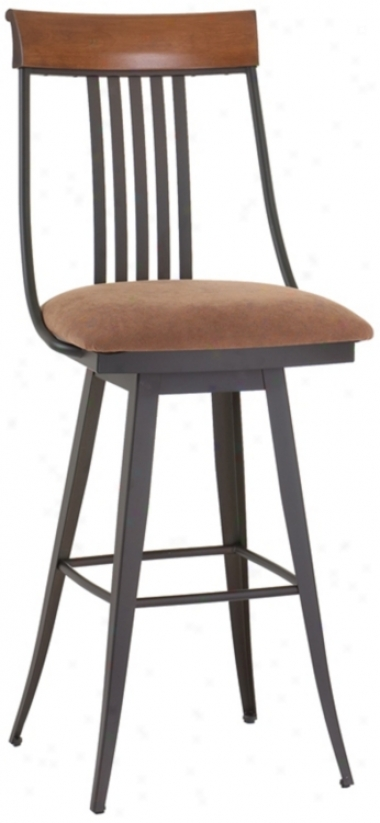 Amisco Kevin Toffee 30&qout; High Swivel Bar Stool (m9211)