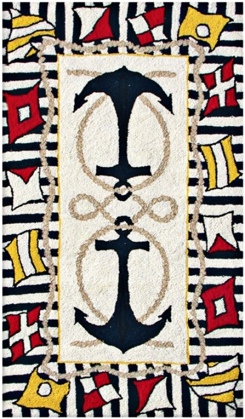 Anchors Away Area Rug (f4565)