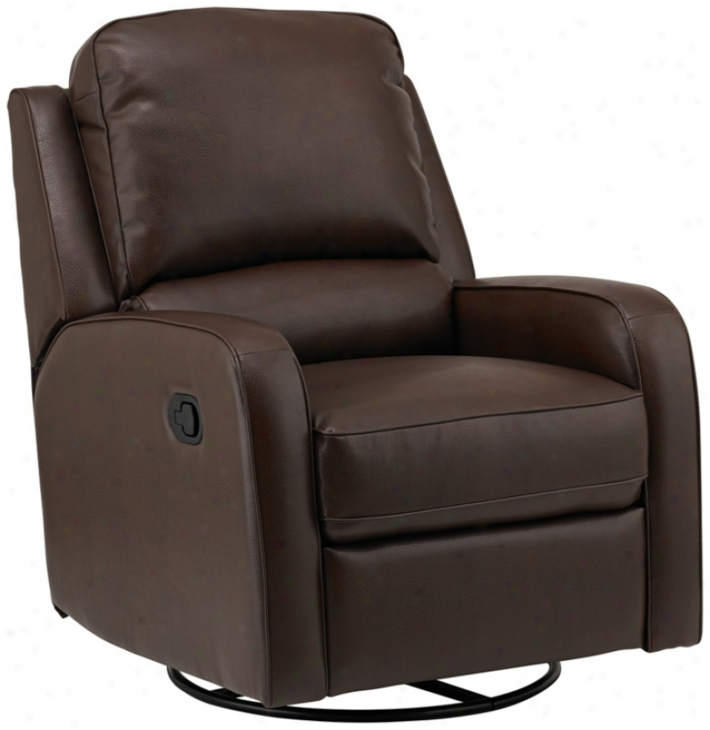 Andefson Bonded Leather Match Brown Recliner (v9956)