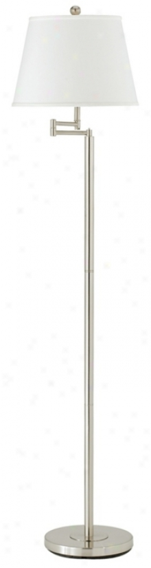 Andros Brushed Hardness Finish Swing Arm Floor Lamp (m7349)