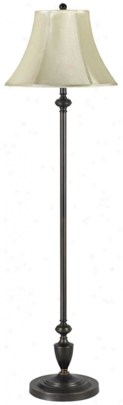 Angelo Collection Bronze Metal Bell Shade Floor Lamp (92632)