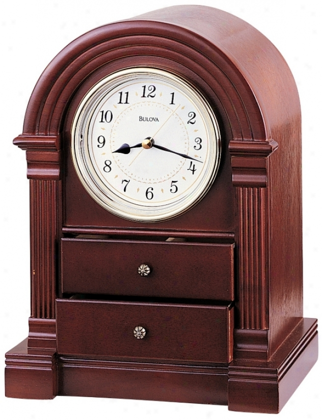 "Anniston Traditional 11"" High Bulova Mantel Clock (v1934)"