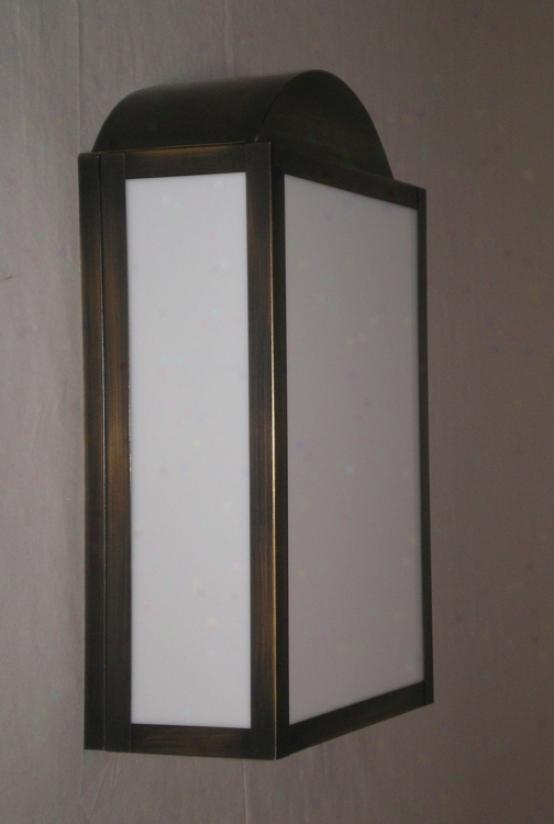 """Antique Brass Finish 13"""" High 8"""" Wide Wall Light (00685)"""