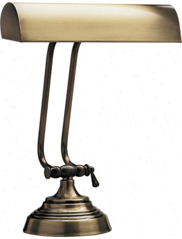 Antique Brass Accomplish Adjustable Piano Desk Lamp (31388)