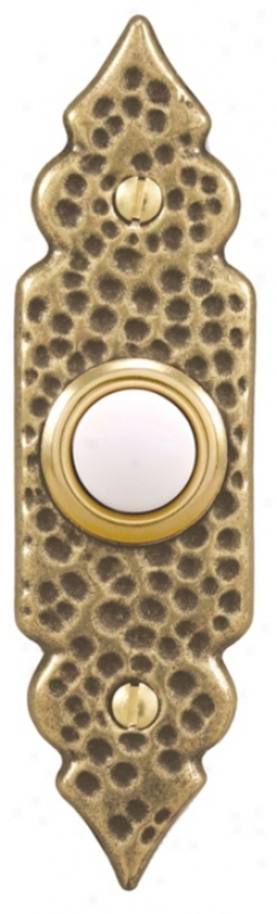 Antique Assurance Hammered Style Lighted Doorbell Button (k6270)