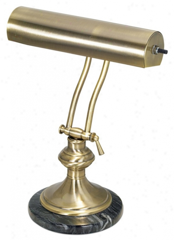 Ancient rarity Brass With Marble Piano Desk Lamp (46393)