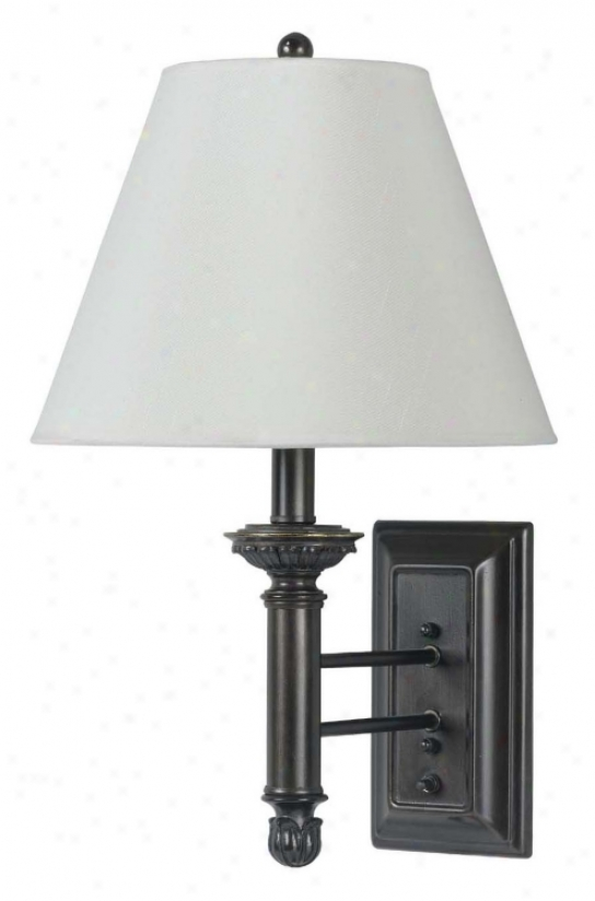Antique Bronze Hardback Shade Plug-in Wall Lamp (g9351)