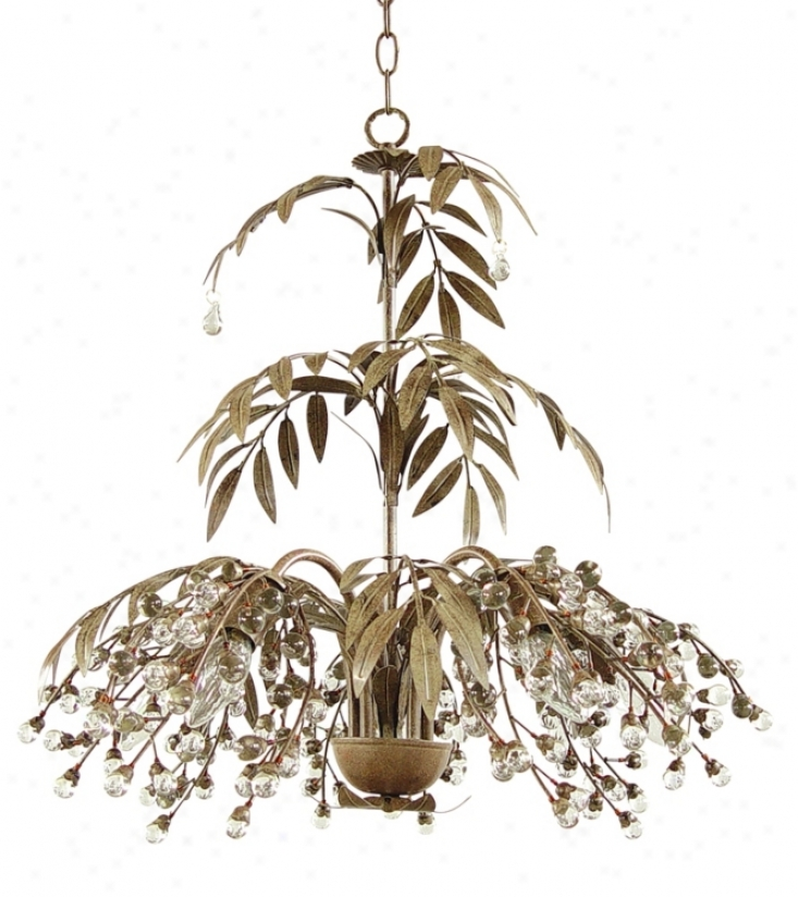 Antique Brown Fountain Leaves Chandelier (72121)