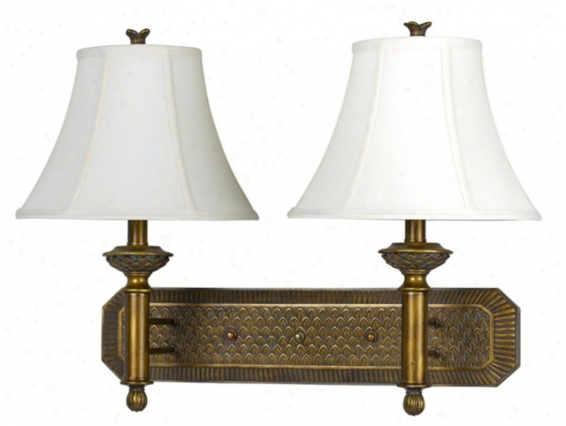 Amtique Gold End Plug-in Style Double Wall Lamp (g9392)