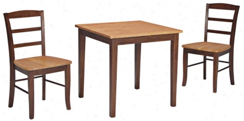 Old Pine And Oak Dining Table And Madrid Chairs Set (u4340)