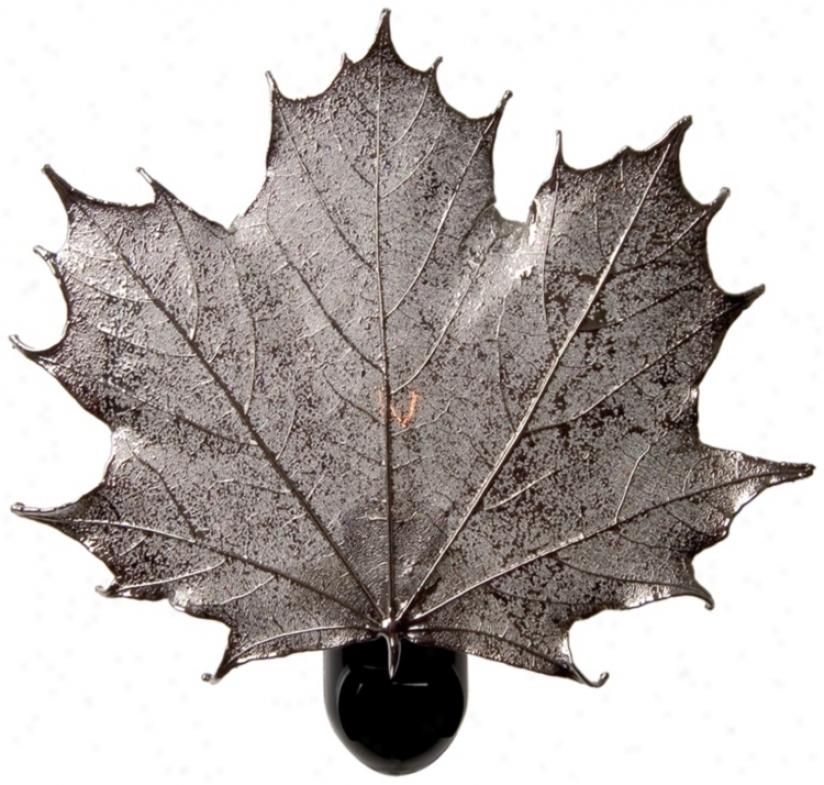 Antique Sllver Real Leaf Sugar Maple Night Light (20159)