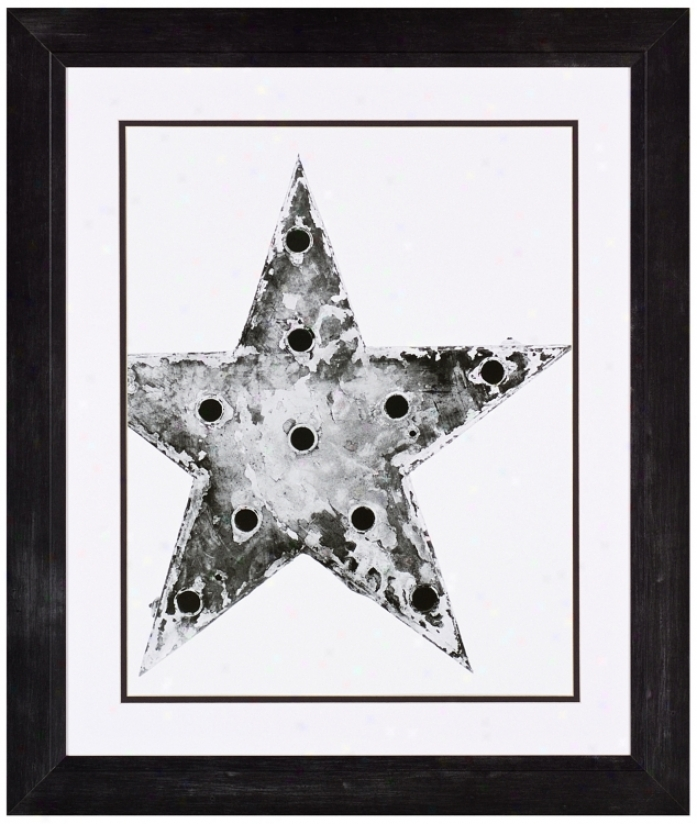 "Antique Star 33"" Proud Wall Art Print (j6045)"
