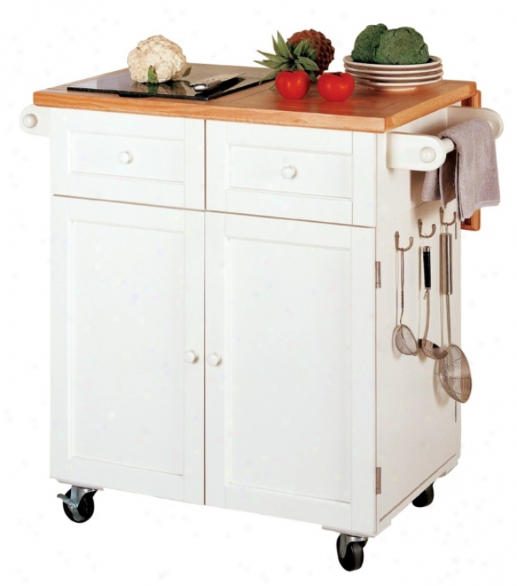 Antique White Finish Kitchen Butler (03069)