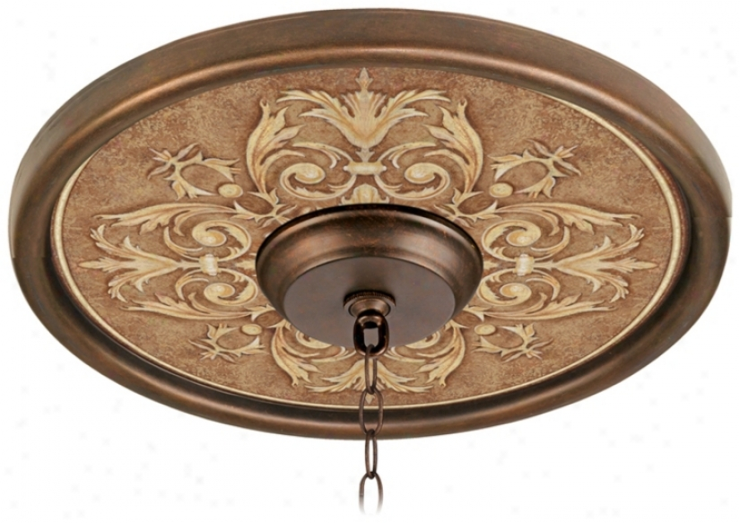 "Antiquity Clay 16"" Wide Bronze Finish Ceiling Medallion (02975-g7164)"