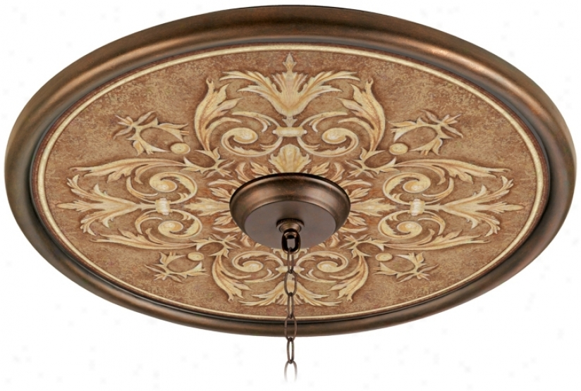 "Antiquity Clay 24"" Wide Bronze Finish Ceiling Medallion (02777-g7145)"