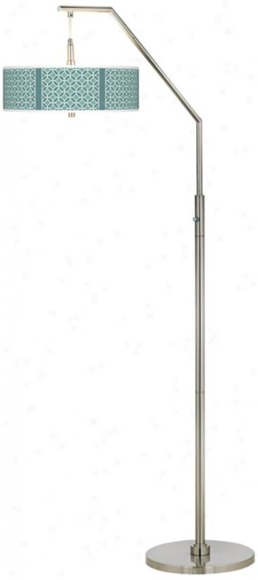 Aqau Rings Giclee Arc Floor Lamp (h5361-t0423)